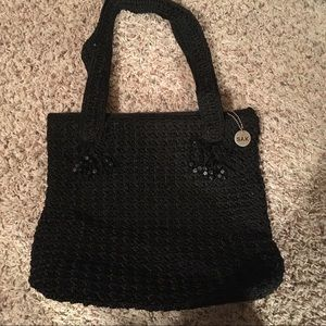 The Sak crocheted bag in black, mint condition